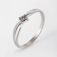 Золотое кольцо с бриллиантом ЮИК210-1021