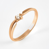 Золотое кольцо с бриллиантом ЮИК110-1021