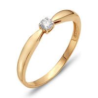 Золотое кольцо с бриллиантом ЮИК112-260