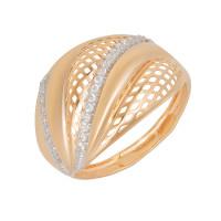 Золотое кольцо с фианитами ЮПК1329340