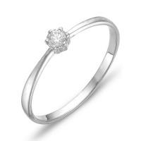 Золотое кольцо с бриллиантом ЮИК210-823
