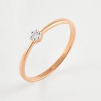 Золотое кольцо с бриллиантом ЮИК112-823