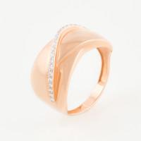 Золотое кольцо с фианитами ЮПК1329375