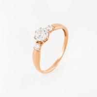 Золотое кольцо с Swarovski и фианитами ЮПК1324217