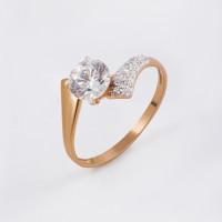 Золотое кольцо с Swarovski и фианитами ЮПК1324273