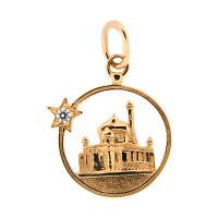Золотая мечеть с фианитами АБ3201089