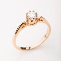 Золотое кольцо с фианитами 2БКЗ5К-01-0441-01