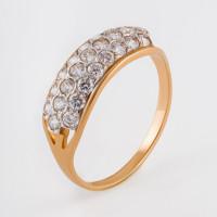 Золотое кольцо с фианитами 2БКЗ5К.1-01-1076-01
