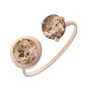 Золотое кольцо с раухтопазами НЮ102000191582тр