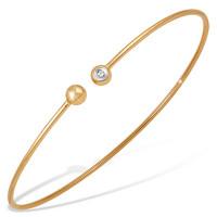 Золотой браслет с фианитами ЮПБ1325647