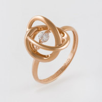 Золотое кольцо с фианитами НЮ105000192510
