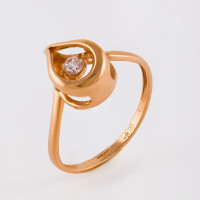 Золотое кольцо с фианитами НЮ105000192512