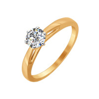 Золотое кольцо с Swarovski ДИ81010209