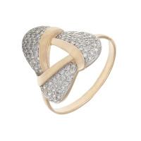Золотое кольцо с фианитами ЮЫ2002000123421