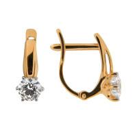 Золотые серьги с Swarovski ДИ81020206