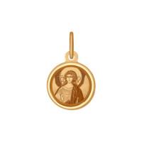 Золотая иконка с эмалью ДИ103992