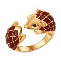 Серебряное кольцо с фианитами ДИ93010556