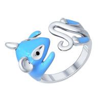 Серебряное кольцо с фианитами ДИ94011781