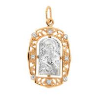 Золотая иконка с фианитами ЕН52-32-0001-02835