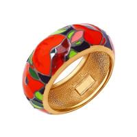 Серебряное кольцо с эмалью ДИ93010542