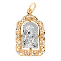 Золотая иконка с фианитами ЕН52-32-0001-02831