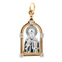 Золотая иконка с фианитами ЕН52-02-0001-01421