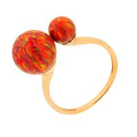 Золотое кольцо с опалами РЫ1021535-45