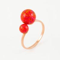Золотое кольцо с опалами РЫ1021635-45