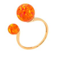 Золотое кольцо с опалами РЫ1021535-30