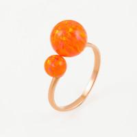 Золотое кольцо с опалами РЫ1021635-30