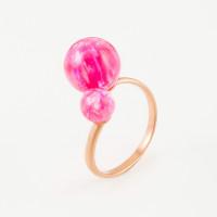 Золотое кольцо с опалами РЫ1021635-55