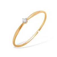 Золотое кольцо с фианитами ЮПК1325078