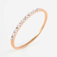Золотое кольцо с фианитами ЮПК1325077