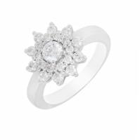 Кольцо из белого золота с бриллиантами МЭК24040