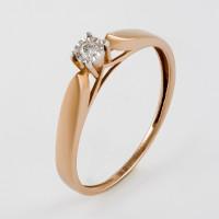 Золотое кольцо с бриллиантом КРК3212422/9