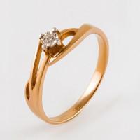 Золотое кольцо с бриллиантом КРК3212450/9