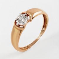 Золотое кольцо с бриллиантом КРК3212612/9
