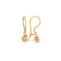 Золотые серьги детские с фианитами ЮПС1323675