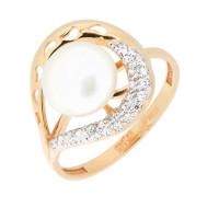Золотое кольцо с жемчугом ПЭ1901502Р