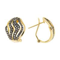 Золотые серьги с бриллиантами ЮЕЕ25924Ц