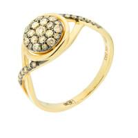Золотое кольцо с бриллиантами ЮЕР25106