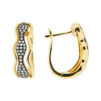 Золотые серьги с бриллиантами ЮЕМЕ31528-БР-УГ