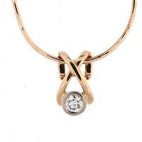 Золотое колье с бриллиантом КТЗКУЛ88936