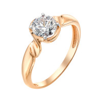 Золотое кольцо с фианитами ЮИК132-3101