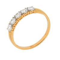 Золотое кольцо с сваровски ДИ81010281