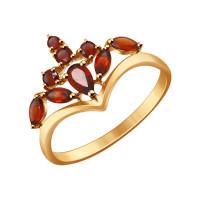 Золотое кольцо с гранатами ДИ714270