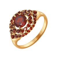Золотое кольцо с гранатами ДИ714274