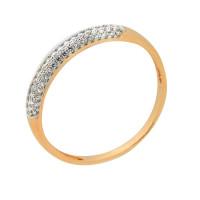 Золотое кольцо с фианитами 2Т2715239Р