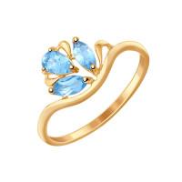 Золотое кольцо с топазами ДИ714587