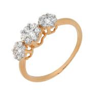 Золотое кольцо с фианитами 2Т2715164Р